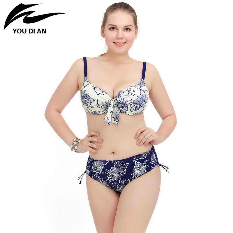 Floral Swimwear Women Swimming Bathing Suit Push Up Bikini Swimsuit-SWIMWEAR-SheSimplyShops