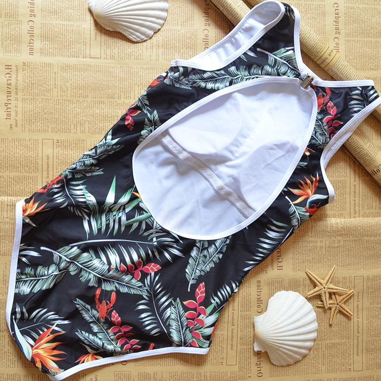 Summer newest Retro print push up sexy One Pieces swimwear women conjoined swimsuit bathing suit padded bikinis beachwear-SWIMWEAR-SheSimplyShops