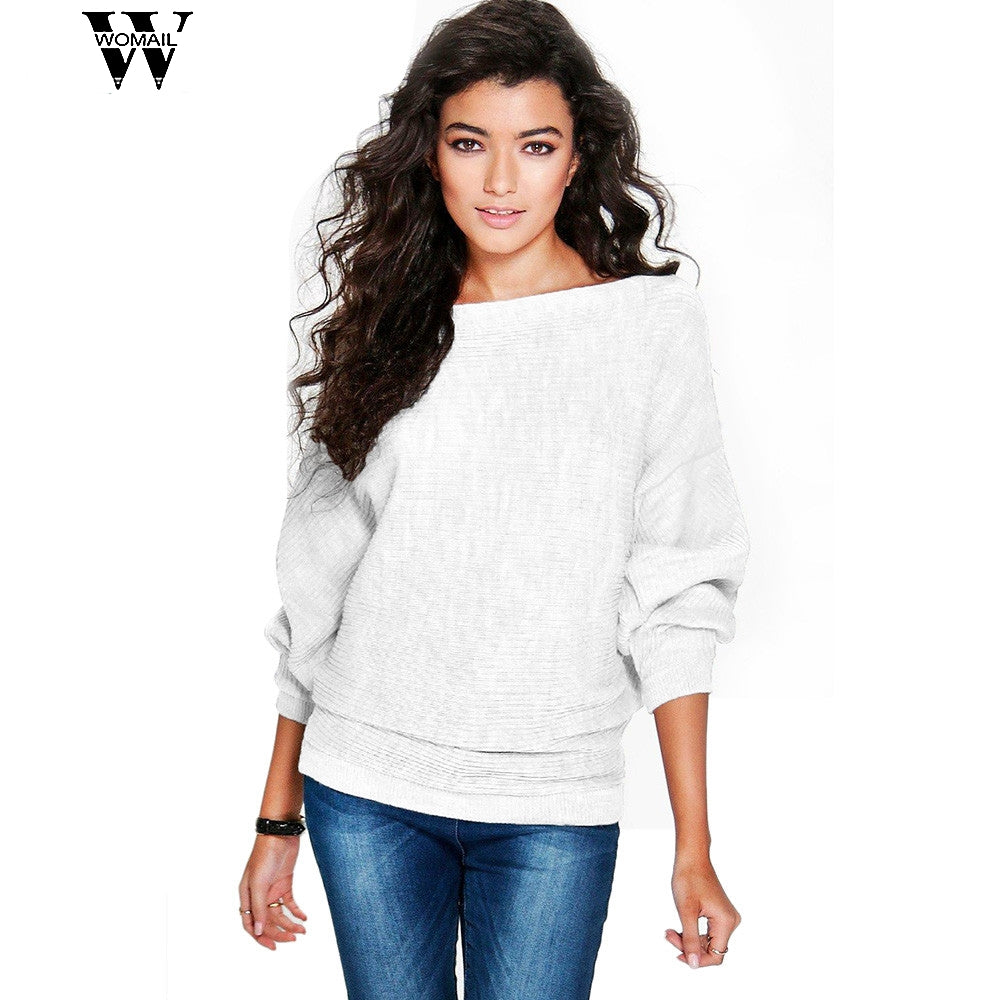 winter women gril fashion Lowest Knitted Pullover Loose Sweater Jumper Tops Knitwear oct30