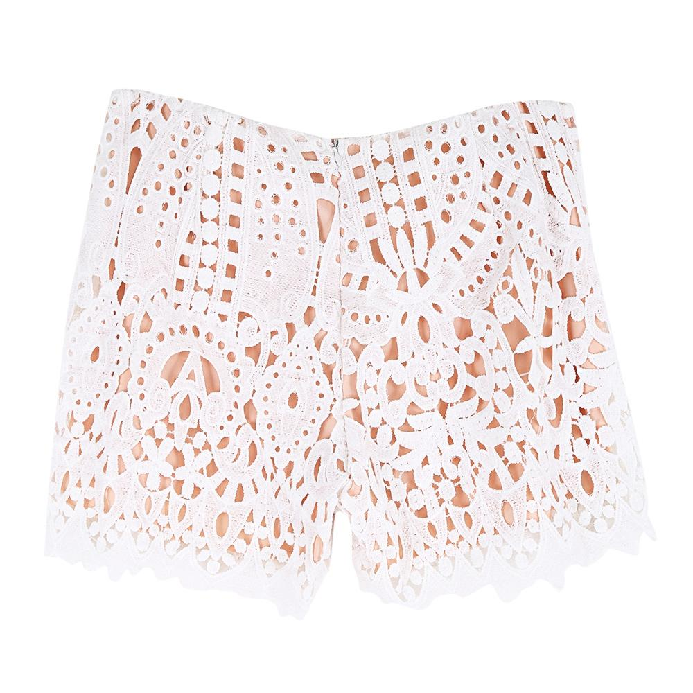 Stylish Hollow Out Crochet Lace Women Shorts-Dress-SheSimplyShops