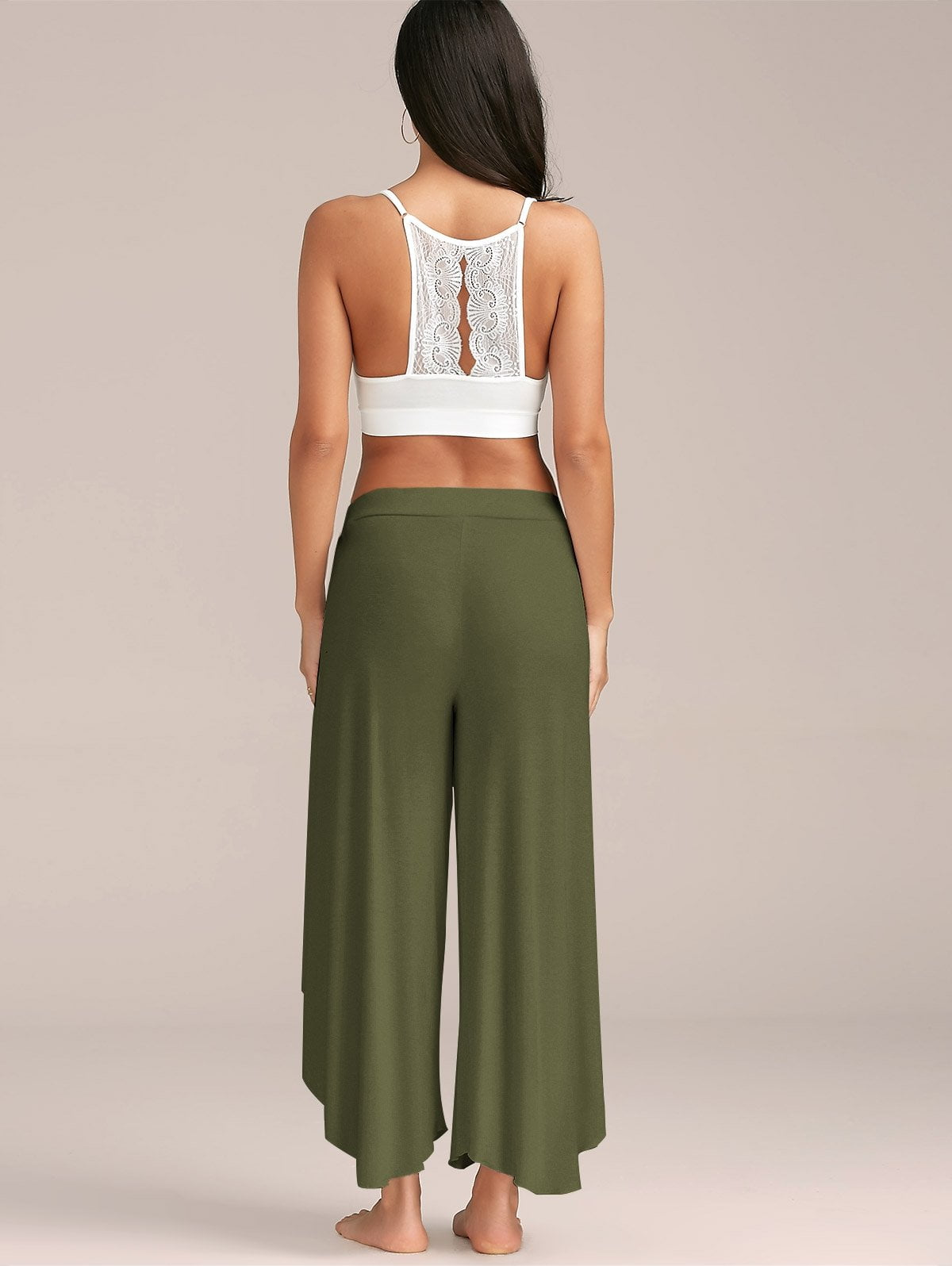High Slit Flowy Layered Palazzo Pants-PANTS-SheSimplyShops