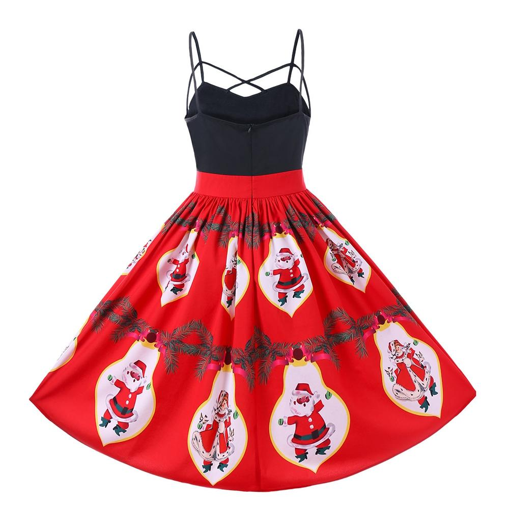 Santa Claus Strappy Swing Dress-Dress-SheSimplyShops