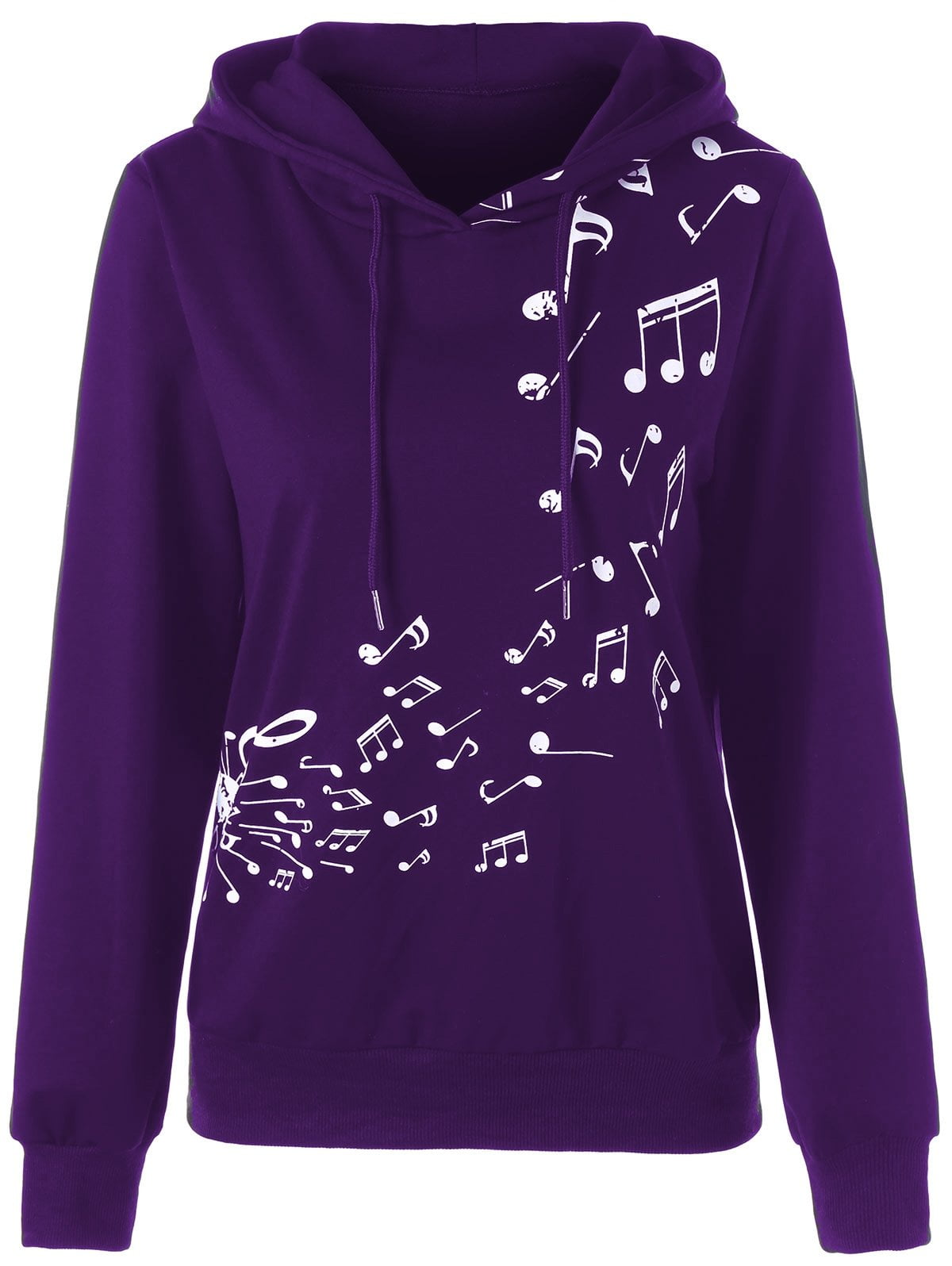 Two Tone Music Note Hoodie-Bottoms-SheSimplyShops