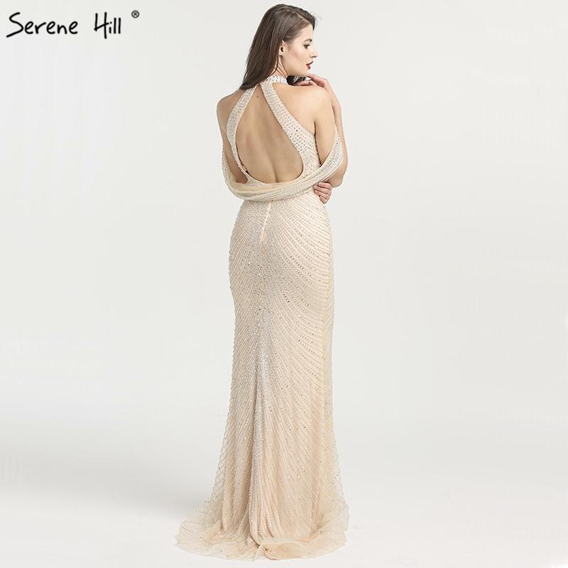 Fashion High-end New Mermaid Evening Dresses Beading Sequined Sleeveless Formal Evening Gowns-SheSimplyShops