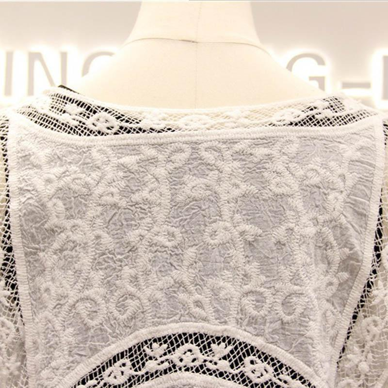 New Cover Up Swimsuit Perspective White Lace Cardigan Beach Cover Ups Women Swimsuit Beach Dress Beach Trousers-Dress-SheSimplyShops