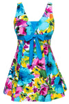 Women Swimwear Bathing Suit Push Up Swimsuit One Piece Swim dress-Dress-SheSimplyShops
