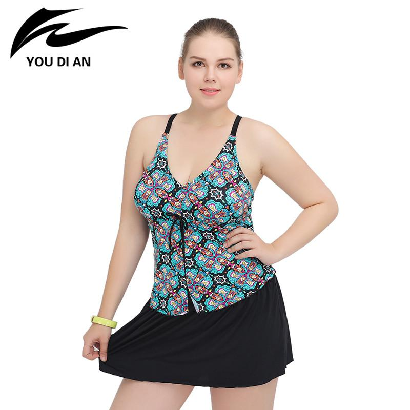 Swimwear Women One Piece Swimsuit Floral Bathing Suits Beach Dress-Dress-SheSimplyShops