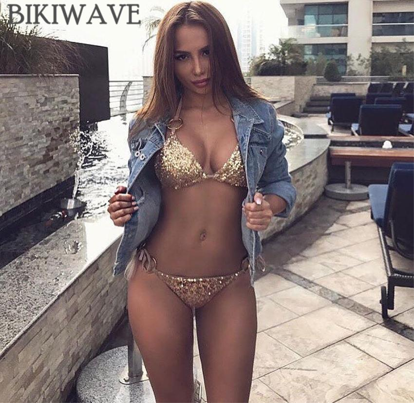 Women Bandage Bikini Set Push Up Padded Strappy Swimsuit Backless Summer Swimwear-SWIMWEAR-SheSimplyShops