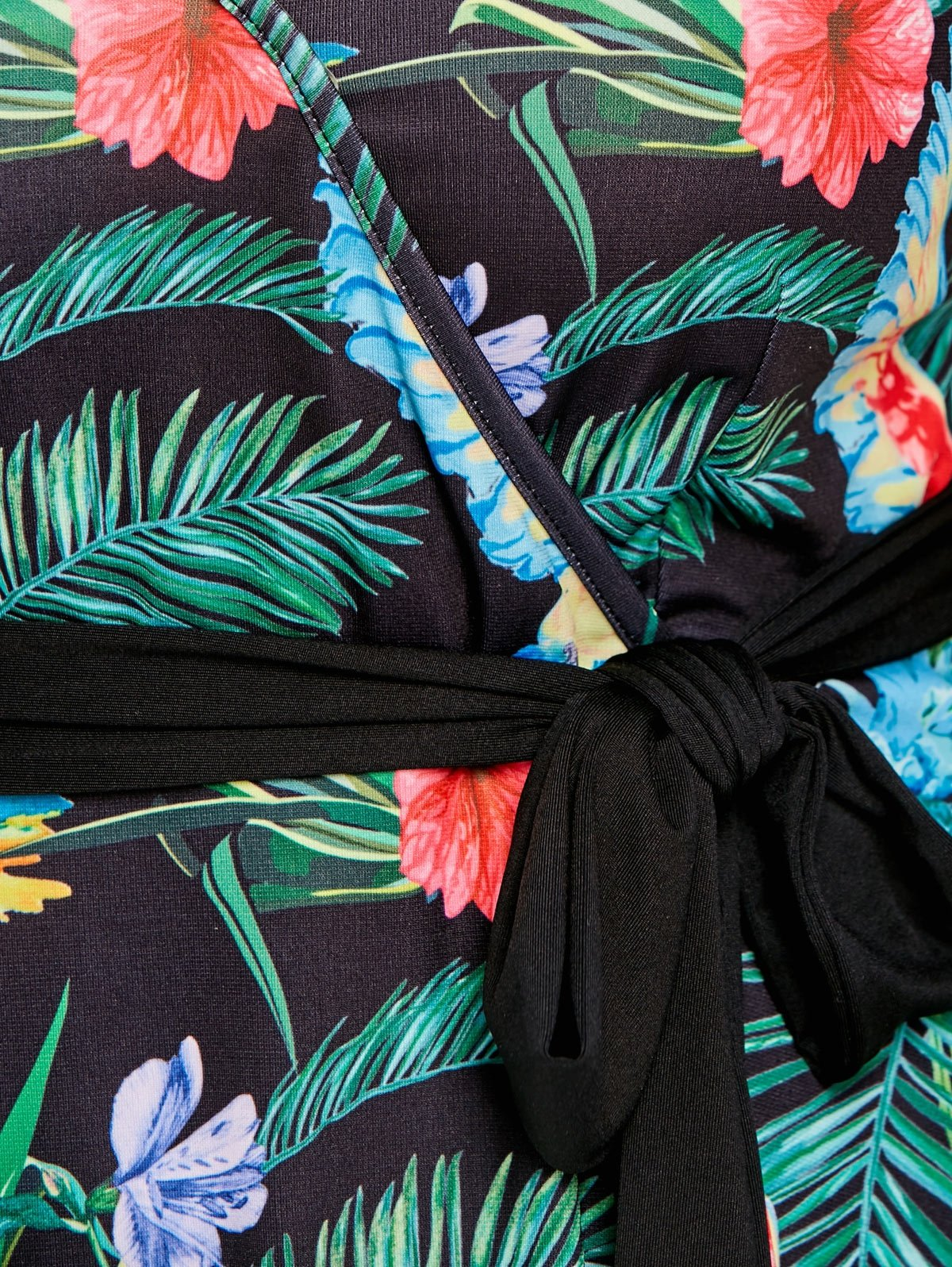 Plus Size Hawaiian Leaf Midi Dress-Dress-SheSimplyShops