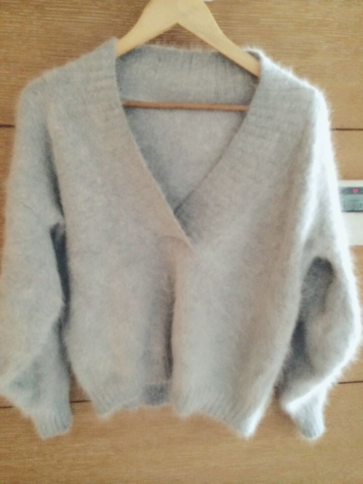 Women Fluffy Mink Cashmere Sweater V neck Female Pure color Mink Cashmere Sweater Kint Pullover