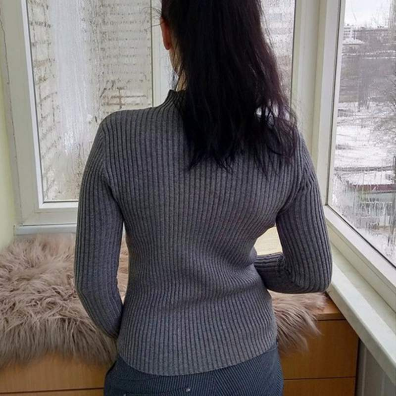 High Quality Women Winter Sweater Thick Knitted Warm jumper Top Slim Female Pullover Sweater