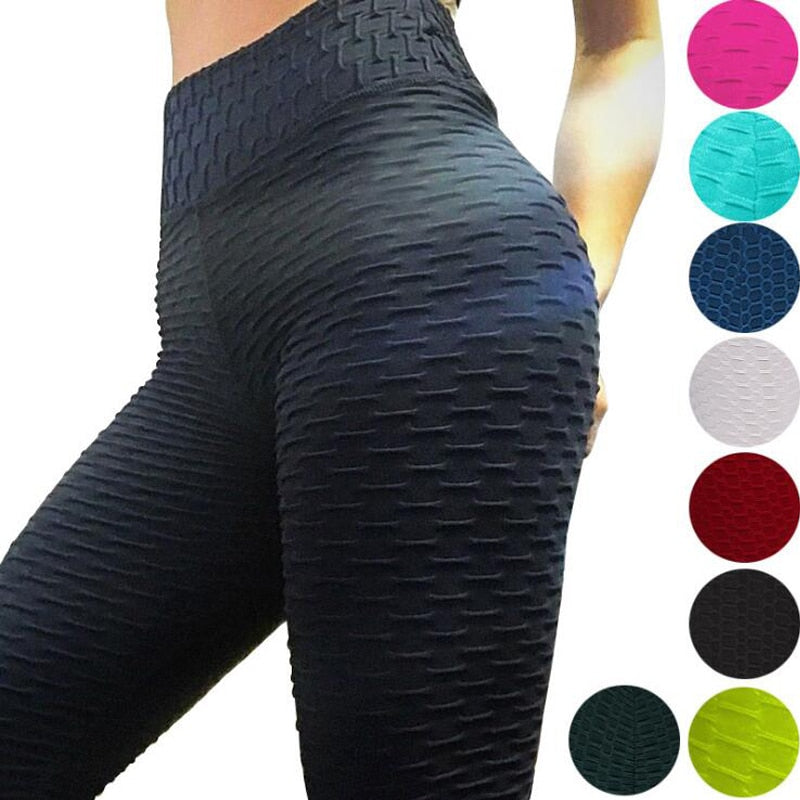 Yoga Pants Fitness Sports Leggings Jacquard Sports Leggings Female Running Trousers High Waist Yoga Tight Sports Pants