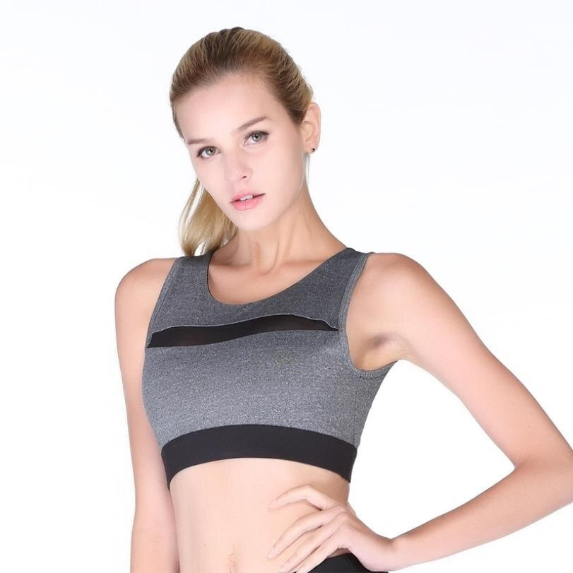 Solid Sports Bra for Women Fitness Yoga Tank Crop Top Push up Gym Shockproof Shirt Girls Running Jogging Fast Dry Vest