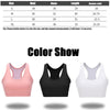 Sports Bra with Pocket Women Solid Yoga Tank Crop Top Fitness Push up Gym Shockproof Shirt Running Work out Quick Dry Vest