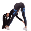BlackArachnia Sports Yoga Leggings Bow Knot Digital Printing Fitness Pants Women Elastic Slim Leggings Yoga Pants
