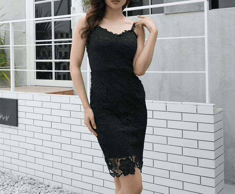 New Summer Dress Long Lace Dress Women Midi Hollow Out Embroidery Dress Sexy Party Dresses-SheSimplyShops