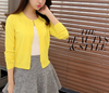 Vangull high quality Spring autumn sweater women cardigan sweater Solid color One button women's cashmere sweater