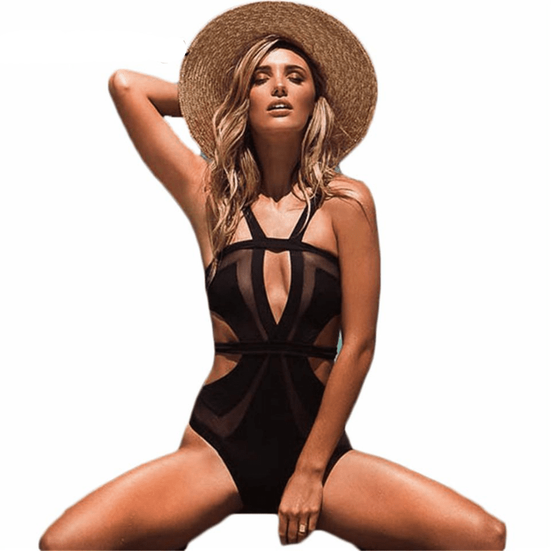 swimwear Swim clothes Polyester One Pieces swimwear-SWIMWEAR-SheSimplyShops