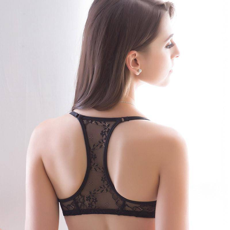 Front Closure Wire bra comfortable non-trace small breasts Push Up sexy h back backless underwear