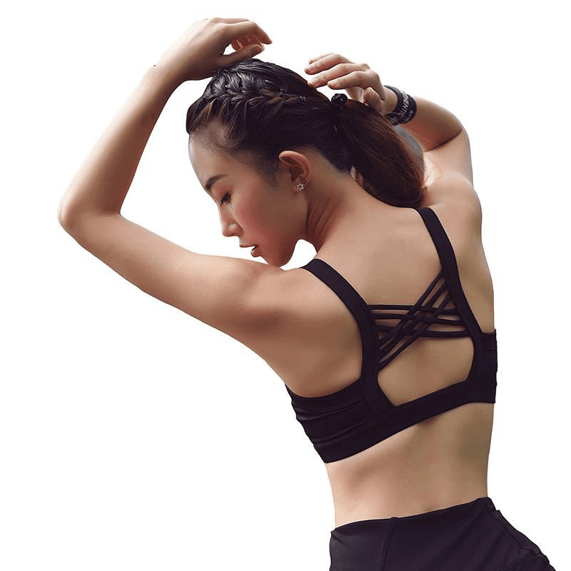 3 Colors Cross Strap Back Women Sports Bra Padded Quick Dry Shockproof Running Yoga Tops Vest Gym Fitness Jogging-ACTIVEWEAR-SheSimplyShops