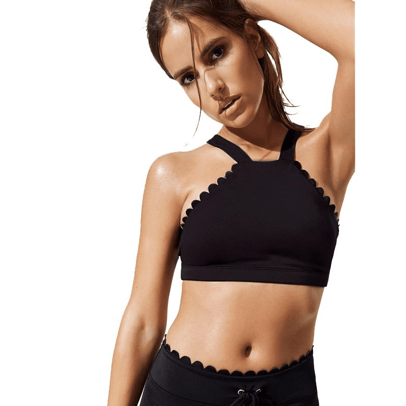 Spring Fitness Sports Bra Lace Yoga Bra Push Up Full Wrap-around Sportswear Sports Bra Vest Running Tops-ACTIVEWEAR-SheSimplyShops