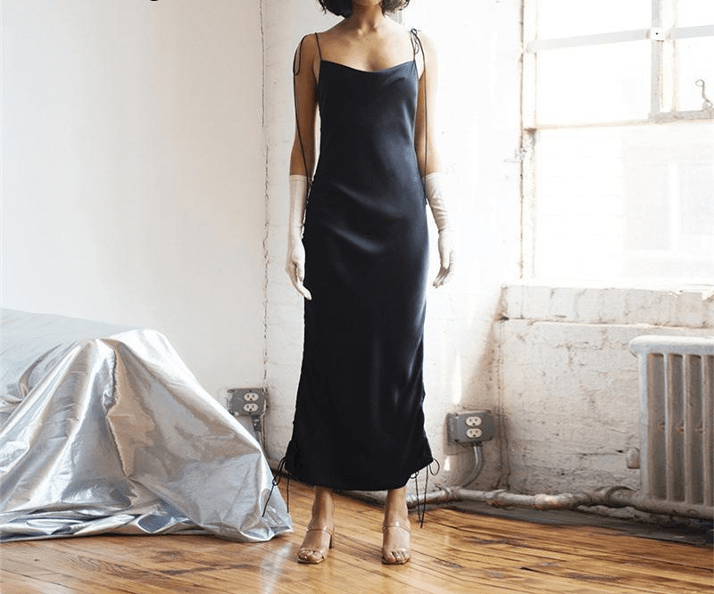 Black Summer Dress Club Party Long Dress Sexy Sleeveless Backless Midi Dress Elegant Dresses-SheSimplyShops
