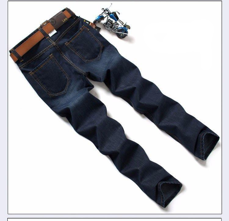 Heavyweight More Thick Winter Jeans Slim jeans Straight Retro men Denim jeans