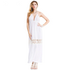 Deep V Solid Women Hollow Out Lace Patchwork Maxi Dress Summer Bandage Backless Beach Party Dress Female
