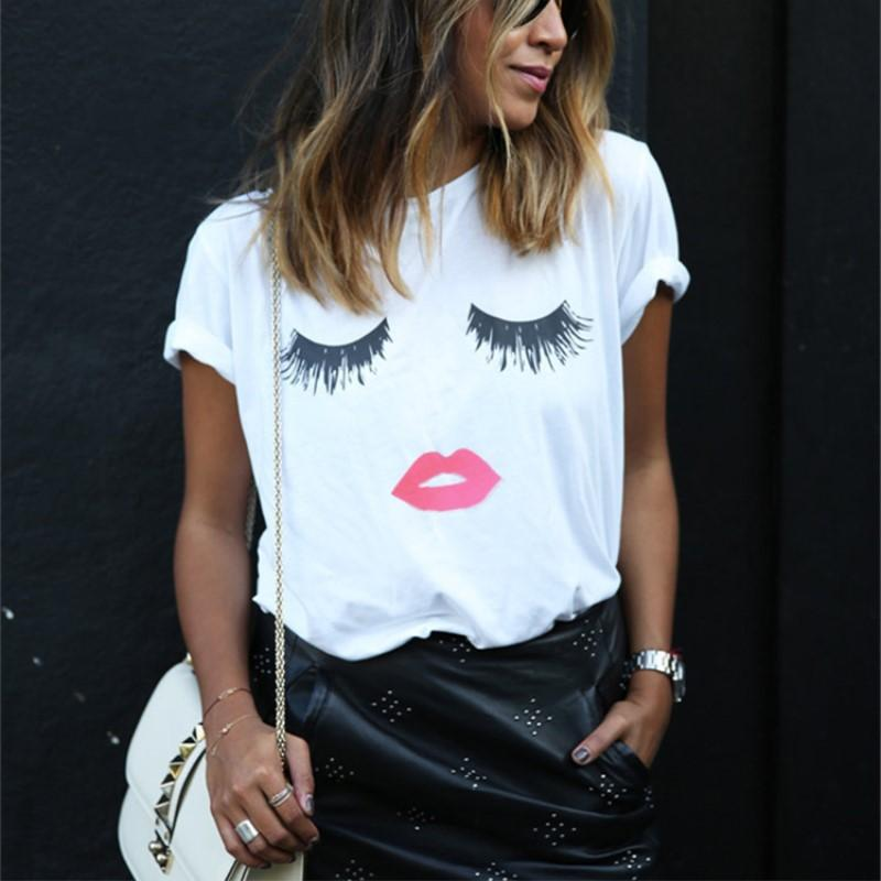 New Fashion letters Print Female T-shirt Summer Tee Shirt Ladies shirt women tops-SHIRTS-SheSimplyShops