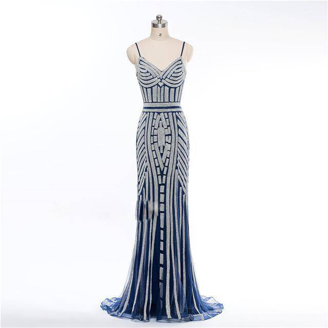 Diamond Evening Party Dress Nude Color Party Occasion Formal Long Evening Dress