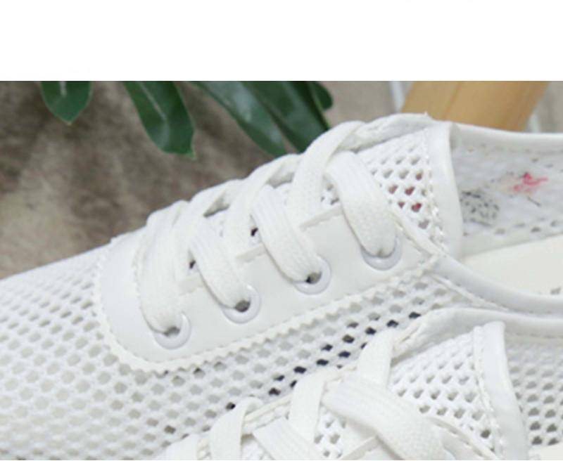 Women Casual Shoes Spring Autumn Lace-up Female Flat Hollow Woman Platform Comfortable Flowers Cut-outs Vulcanize
