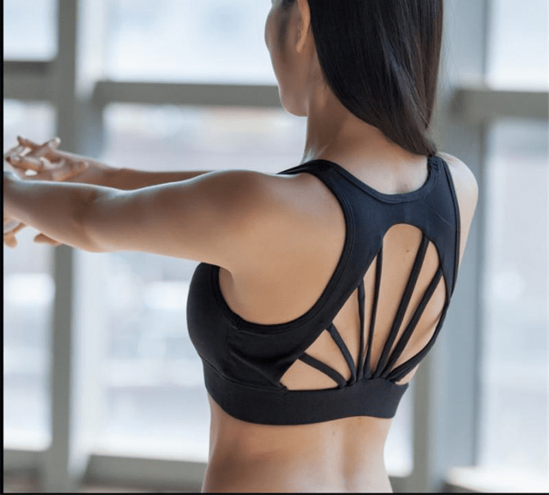 Sexy Back Bandage Yoga Sports Bra Women Shockproof Underwear Fitness Push Up Gym Running Sector Tank Tops Strip-ACTIVEWEAR-SheSimplyShops