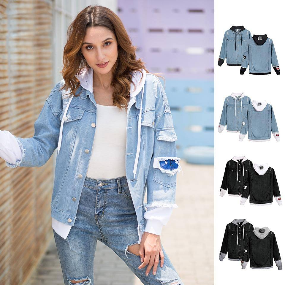 FRDUN TOMMY women denim jacket for girls Bomber Jacket High Quality Cowboy girl Jean Jacket coat Chaqueta Hombre boy clothe