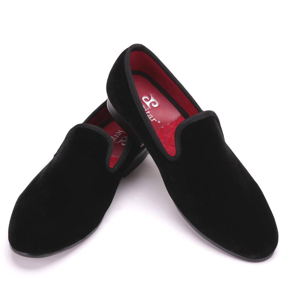 Plus Size and Colorful Men Velvet Loafers Men Wedding and Party shoes Men's Flats Male Smoking slippers