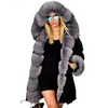Plus Size S 5XL Winter Jacket Coat Women Hooded Overcoat Faux Fur Cotton Fleece Female Parkas Hoodies Long Coat