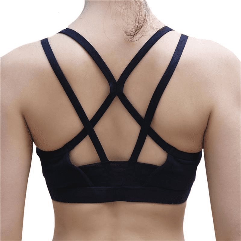 Back Cross Shock-proof Sports Bra Running Underwear Top Yoga Fitness Women Jogging Breathable Seamless Bras-ACTIVEWEAR-SheSimplyShops