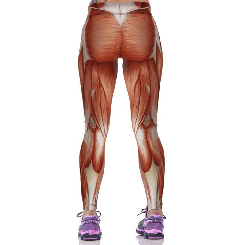 Yoga Pants Women 3D Human Muscle Print Sport Fitness Leggings Running Pants Tight Women Sportswear Yoga-ACTIVEWEAR-SheSimplyShops