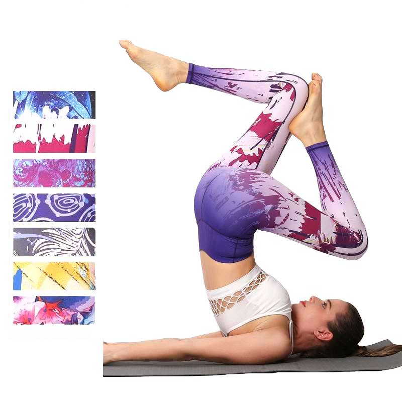 Printed Fitness Leggings High Waist Women Yoga Pant Elastic Sport Leggings Female Workout Pants Yoga Leggings Running Tight