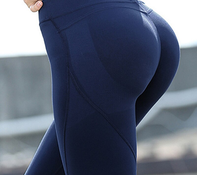 BLESSKISS Shaper Super Soft Hip Up Yoga Pants Women Fitness Stretchy Sport Tights Gym Athletic Leggings Pink Blue Black
