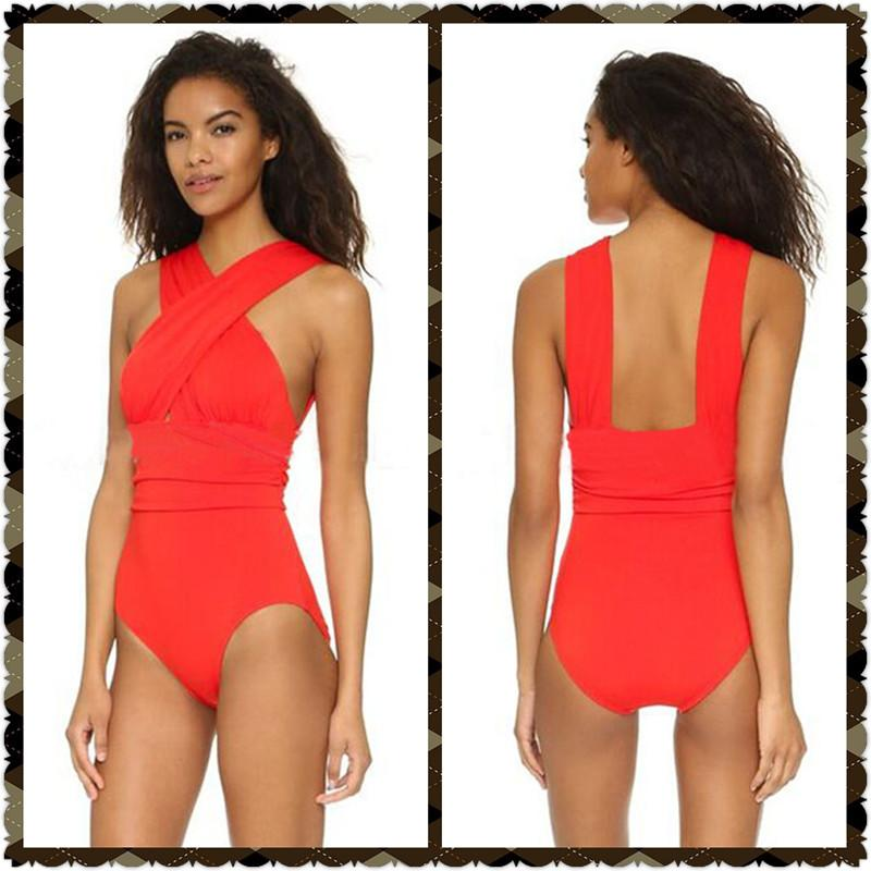 New Sexy Swimwear Women One Piece Swimsuit Beach Bikini Set Bathing Suit High-necked Hollow Swimsuit Women-SWIMWEAR-SheSimplyShops