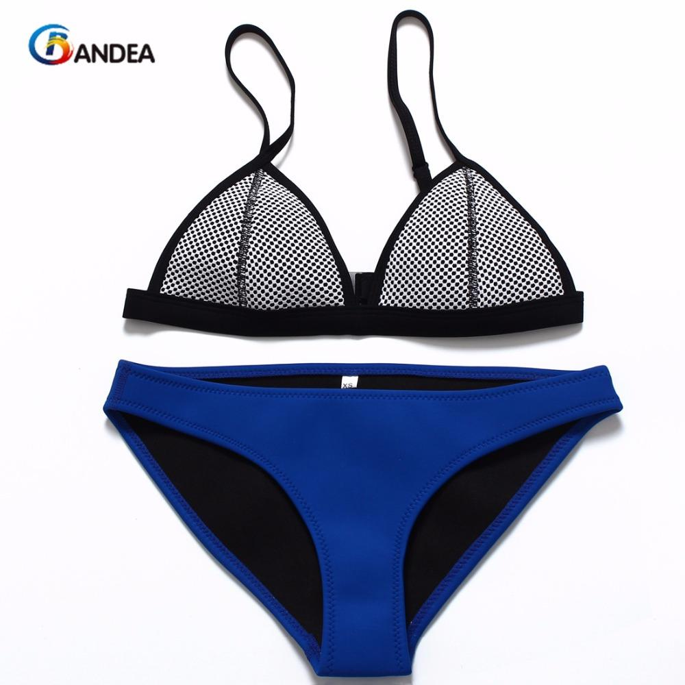 New Mesh Swimwear Women Sexy Bikini Set Low Waist Swimsuit bikinis-Bottoms-SheSimplyShops