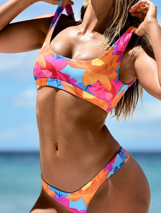 Women Swimwear bikini set push up Crop Tops halter Bikini Set Beach wear Swimsuit Bikinis set-SheSimplyShops
