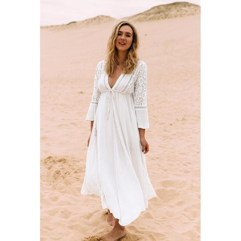 Bath Suits Dress Beach Cover Up Bikini Woman Swim Skirt Cover ups For Women Bathing Suit Covers New Cotton Lace Dress Beach-Dress-SheSimplyShops