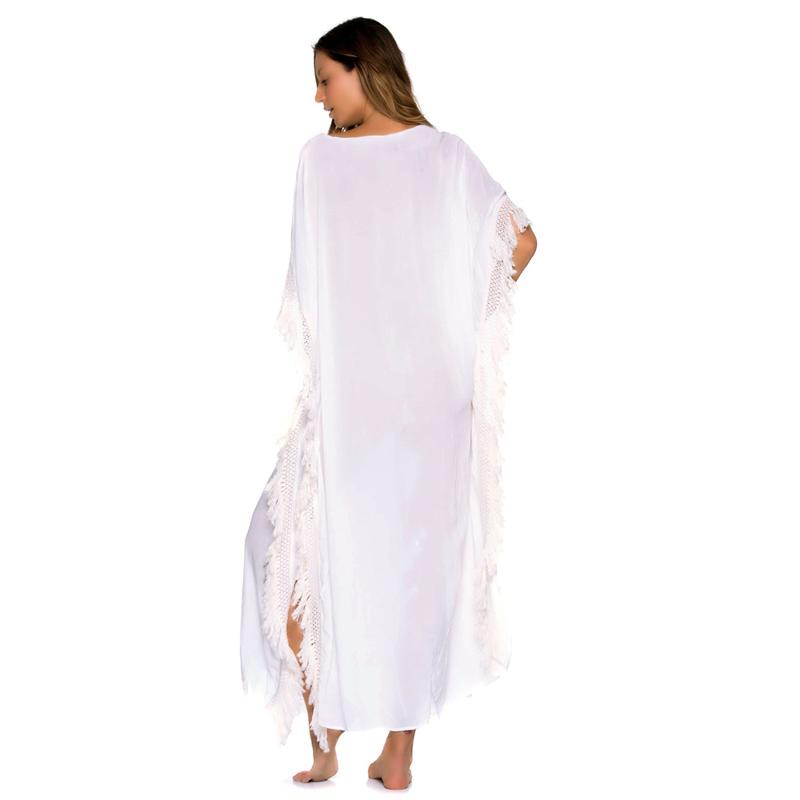 Beach Dress Tunic Bathing Suit Cover Ups Ladies Beachwear Dresses Both Sides Cotton Bikinis Swimsuit Female-Dress-SheSimplyShops