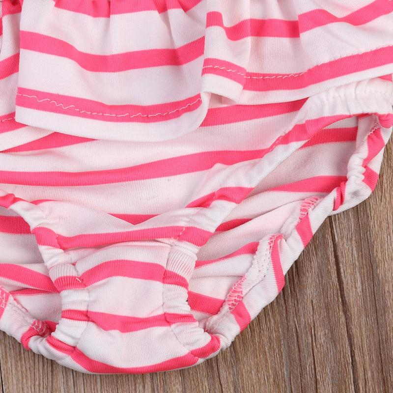 Cute Striped Sailor Child Girl Bikini swimsuit swimwear high wasted bathing suit for kids baby girls Bikini children swimwear-SWIMWEAR-SheSimplyShops