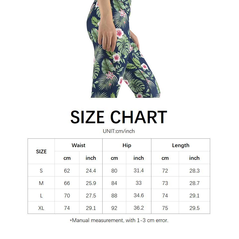 Printing Fitness Yoga Pants Running Fitness Gym Female Stretch High Waist Legging Sport Slim Spandex Elastic Waist-SheSimplyShops