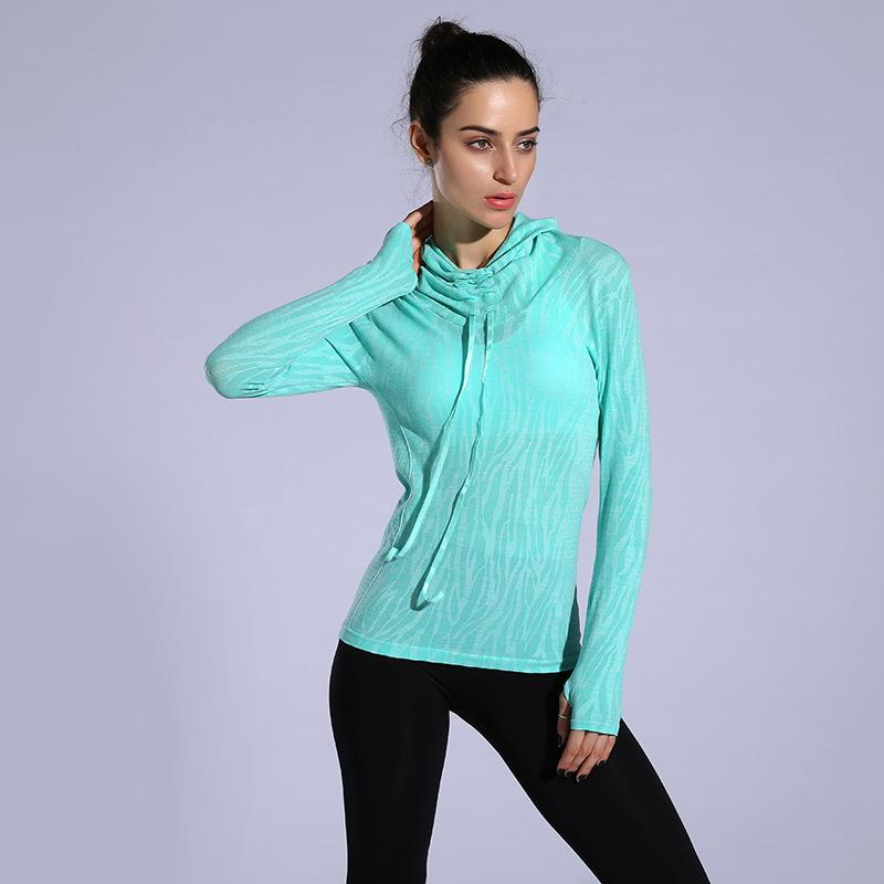 Women Yoga Tank Tops Hood Gym T Shirts Fitness Clothing Sports Sweatshirts For Female Yoga Coat Hoodies Running Jacket-ACTIVEWEAR-SheSimplyShops