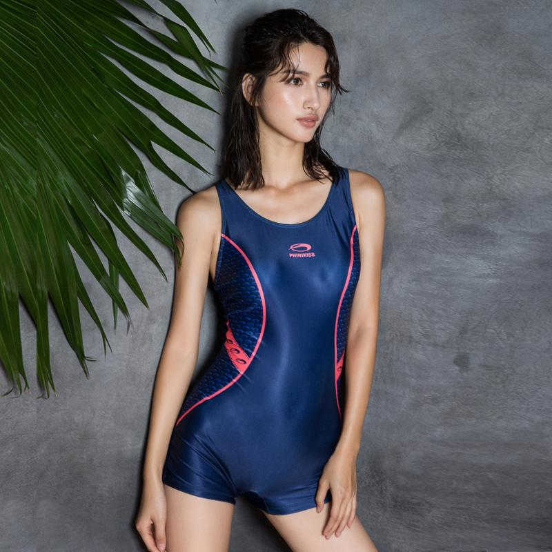 Deep Blue Bodysuit One Piece Swimsuit Swimwear Women Sports Swimsuits Women Push Up Padded Swimsuit-ACTIVEWEAR-SheSimplyShops