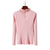 GOPLUS Zipper Turtleneck Women's Knitted Sweater Pink Long Sleeve Pullovers 2019 Autumn Korean Style Sweaters For Women Clothing