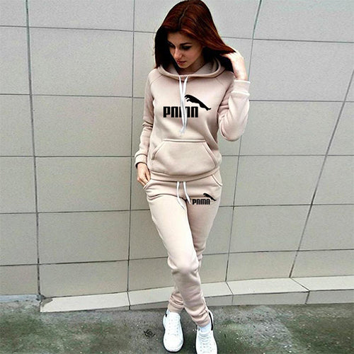 Two Piece Set Tracksuit Women Hooded Sweatshirt + Pants Sets Sportswear Suit Casual Hoodies With Pockets Ropa De Mujer